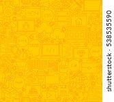coding yellow line tile pattern....   Shutterstock .eps vector #538535590