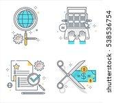 color line  business...   Shutterstock .eps vector #538536754