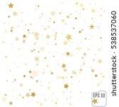 star falling print. gold yellow ... | Shutterstock .eps vector #538537060