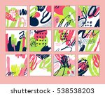 set of artistic creative cards... | Shutterstock .eps vector #538538203