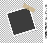 photo frame with shadow on... | Shutterstock .eps vector #538543948