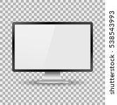 monitor pc realistic with a... | Shutterstock .eps vector #538543993