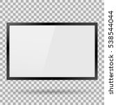 tv plasma  modern blank screen... | Shutterstock .eps vector #538544044