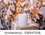 mug for mockup near christmas... | Shutterstock . vector #538547038