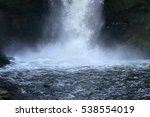close up photo of a waterfall... | Shutterstock . vector #538554019