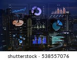 financial graphs analysis | Shutterstock . vector #538557076