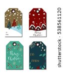 christmas gift tags set | Shutterstock .eps vector #538561120