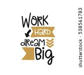 vector poster with phrase decor ... | Shutterstock .eps vector #538561783
