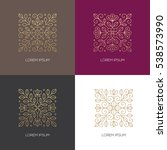 set of four geometric square... | Shutterstock .eps vector #538573990
