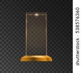 glass shining golden trophy.... | Shutterstock .eps vector #538576360
