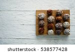 healthy raw energy balls with... | Shutterstock . vector #538577428