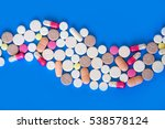 colored pills  tablets and... | Shutterstock . vector #538578124