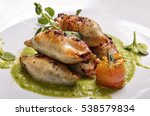 squid stuffed with meat and... | Shutterstock . vector #538579834