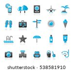 summer  vacation and beach...   Shutterstock .eps vector #538581910