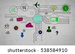 group of colorful application... | Shutterstock . vector #538584910