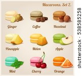 colorful cookies with different ... | Shutterstock . vector #538585258