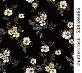 seamless floral pattern in... | Shutterstock .eps vector #538586683