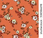 seamless floral pattern in... | Shutterstock .eps vector #538586698