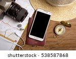 travel planning with map ... | Shutterstock . vector #538587868