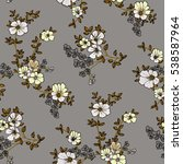 seamless floral pattern in... | Shutterstock .eps vector #538587964