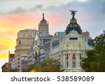 madrid city center architecture ... | Shutterstock . vector #538589089