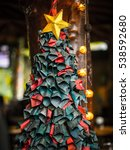 christmas tree  made up of... | Shutterstock . vector #538592680