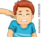 illustration of a little boy... | Shutterstock .eps vector #538593328