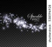 glittering shiny stream of... | Shutterstock .eps vector #538596928