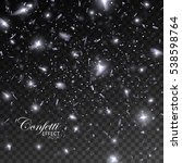 sparkling confetti. vector... | Shutterstock .eps vector #538598764