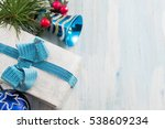present box and christmas... | Shutterstock . vector #538609234