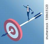 businessman standing on the... | Shutterstock .eps vector #538615120
