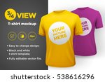 yellow and purple men's t shirt ... | Shutterstock .eps vector #538616296