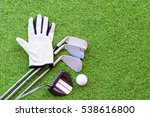 equipment for playing golf on... | Shutterstock . vector #538616800