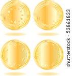 golden coins set. various... | Shutterstock .eps vector #53861833