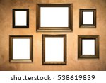 wooden picture frame on old... | Shutterstock . vector #538619839