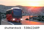 touristic red bus on highway.... | Shutterstock . vector #538622689