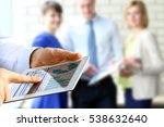 business colleagues working and ... | Shutterstock . vector #538632640