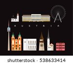 austria landmarks travel and... | Shutterstock .eps vector #538633414