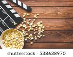 watching movie with popcorn on... | Shutterstock . vector #538638970