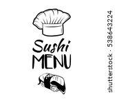 the salmon roll. sushi menu.... | Shutterstock .eps vector #538643224
