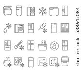 outline fridge icons  signs and ...