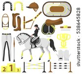 vector set equipment for riding ... | Shutterstock .eps vector #538645828