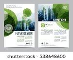 greenery brochure layout design ... | Shutterstock .eps vector #538648600