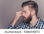 side view portrait of tired...   Shutterstock . vector #538654873