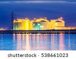 petrochemical industrial oil... | Shutterstock . vector #538661023