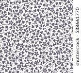 monochrome delicate floral... | Shutterstock . vector #538661770