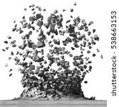 concrete surface explosion... | Shutterstock . vector #538663153
