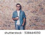 portrait of young handsome man... | Shutterstock . vector #538664050