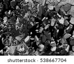destruction demolition concrete ... | Shutterstock . vector #538667704