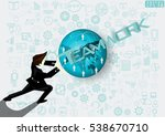 businessman release the power... | Shutterstock .eps vector #538670710